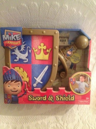 NEW 2013 Fisher-Price Mike The Knight Cartoon Sword & Shield Playset Dress Up