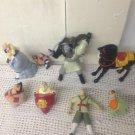 Lot Mulan McDonalds Toys Horse Warrior Spinner Tops