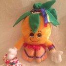 """10"""" VTG 1992 Dole Piney Pals Luau Lani Plush Stuffed Pineapple"""