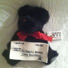 "8"" Boyds Razz Berries Plush Stuffed Black Bear NSF My Reality Check Bounced"