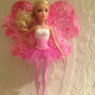 "8"" Barbie Doll Fairytale Magic Fairy Doll Pink Wings Blonde Hair Blue Eyes"