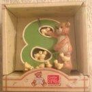 "3"" NEW Gund Thinking Of You Number 8 Teddy Bear & Ducks Figurine"