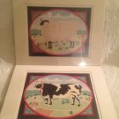 Ed Parker Print Lot Farm Life Countryside Sheep & Dairy Cow Matted