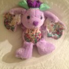 "12"" VTG 1992 TCFC Pepoermint Rose Bubblegum Violet Bunny Rabbit Plush Stuffed"