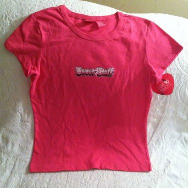 2004 Target Love So Sweet Womens Misses Small Pink Sweet Stuff Tshirt NWT