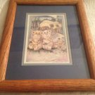 Jody Bergsma Framed Signed Lithograph Bears House Nice & Old Grouch