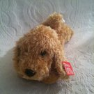 "NWT Gund 9"" Long Plush Stuffed Brown Dog New Lovey Red Collar 40815"