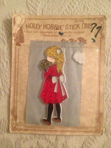 Vintage Holly Hobbie Stick Ons Blonde Hair Red Dress Unused American Greetings