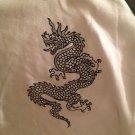 NWT Soft Wear Sleep Shirt White Black Gray Dragon Longsleeve