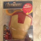 """New IRON MAN & AVENGERS """"ARMOR UP"""" Mini Games Card game in HELMET CASE w/clip"""