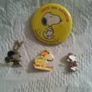 VTG Peanuts Snoopy Pin Lot Skiing Mount Snow Out To Lunch Football Winter