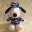 "6"" Peanuts Snoopy MetLife Promo Blue Camouflage Camo Military Army Plush Stuffed"