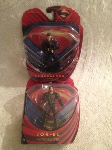Superman Man Of Steel Lot General Zod In Shackles & Jor-El Figures Movie Masters