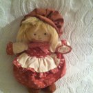 "8"" RUSS BERRIE JESSICA 636 COUNTRY CLOTH GIRL DOLL PLUSH W/ TAG"