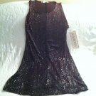 NWT S Roberts Juniors Sz 9 10 Sparkly Glitter Club Dress Burgundy Sleeveless