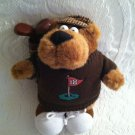 "11"" Plush Stuffed Golfing Sid Bear I Love To Golf Talking Fathers Day Gift"
