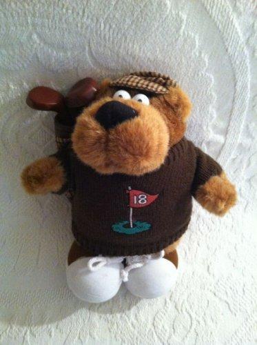 "11"" Plush Stuffed Golfing Sid Bear I Love To Golf Talking Fathers Day Gift"
