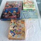Lot 5 Vintage Puzzles Games Looney Tunes Bride Bingo Cabbage Patch Kids Rose