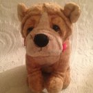 "7"" Russ Plush Stuffed Thurber Shar Pei Dog W/ Red Bandanna"