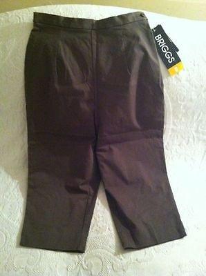 NWT Briggs Spandex Stretch Capri Green Pants Womens Sz 8