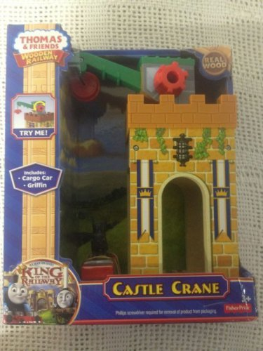 NEW Thomas Train & Friends Wooden Railway Castle W/ Cargo Car Griffin Real Wood