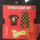 NWT M Dr. Seuss The Grinch Christmas Mens Sleep Set Pants T-Shirt