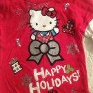 NWT Sanrio Hello Kitty Christmas Girls T-Shirt 4T Red Longsleeve Happy Holidays
