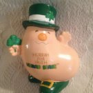 "4.5"" VTG 1981 Enesco Human Beans Hurray For Irish Figurine St. Patricks Day"