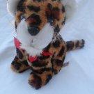 """8"""" vintage Treasure Masters Snuggle-Ups plush leopard stuffed"""