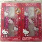Lot NEW Christmas Hello Kitty Slap Bracelet Lipgloss Set Stocking Stuffers