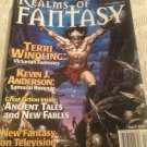Realms Of Fantasy April 2001 Kevin J Anderson Terry Windling