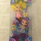 Rare NEW Barbie Mermaidia Fairytopia Merfairies Yellow Purple 2005