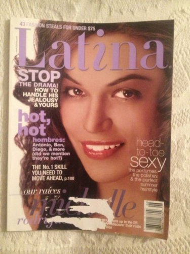 Latina Magazine June 2004 6 Feet Under Justina Machado Antonio Banderas