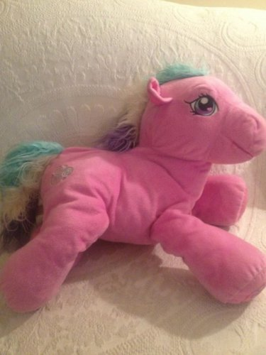 "Jumbo 18"" Long 2004 My Little Pony Toola Roola Pink Plush Stuffed"