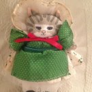 VTG Applause Dustyn Schear Dolly Cat's Christmas Plush Stuffed Kitty Cat Cloth