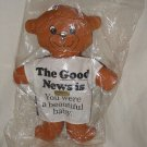 VTG 1987 Good News Bad News About Old Age Enesco plush bear beautiful baby