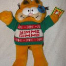 "Vintage 1981 Dakin Christmas Gimme Gimme plush 12"" Garfield stuffed with tag"