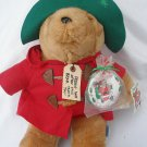 """1994 16"""" plush Christmas Paddington bear with ornament attached with tag"""