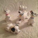 VTG Disney 101 Dalmatians Ceramic Figure Lot Perdita Puppies Yellow Red Blue