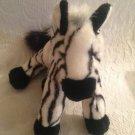 "10"" Aurora Flopsies Realistic Zebra Plush Stuffed VGUC"