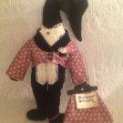 "Rare VTG 16"" Black Goose Pillow Carpetbaggers Characters Madam Gander Plush"