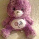 "12"" Rare Purple Share Care Bear Swarovski Crystal Sterling Silver Plush Stuffed"