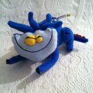 "Protonix Plush Stuffed Gerd Drug Rep Gift 7"" Long Monster Dragon Gerdie"