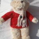"""14"""" Hallmark plush Jingle Bell Musical Bear plays song WORKS! stuffed Christmas"""