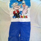 Vintage 1980's Collegeville Popeye Spinach Halloween Costume Large 12-14