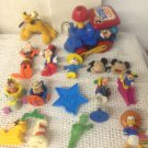 Lot Toys PVC Train Mickey Mouse Pluto Epcot Center Chip Dale Goofy Whistle Plush