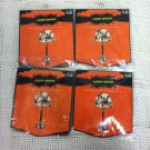 Lot 4 New Halloween Lamp Covers Skeleton Adjustable To Fit Up To 16 Dia 10 Tall