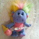 Vintage 1989 Playskool Hobnobins Cousin Sweetie Plush Stuffed Troll Ice Cream