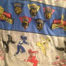 1994 Saban Mighty Morphing Power Rangers Fabric Bedsheet Twin Flat