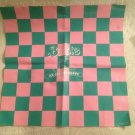 VTG 1986 Barbie Sweet Shoppe Checkered Floor Mat Pink Green